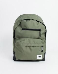Рюкзак цвета хаки с логотипом adidas Originals-Зеленый