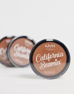 Бронзатор для лица и тела NYX Professional Makeup California Beamin - Golden State-Коричневый