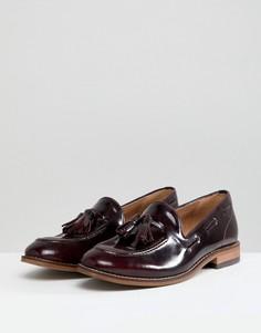 Кожаные туфли на плоской подошве с кисточками H By Hudson-Красный