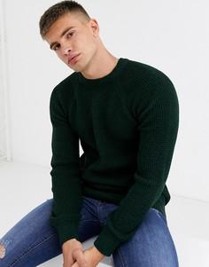 Джемпер с круглым вырезом и рукавами реглан New Look-Зеленый