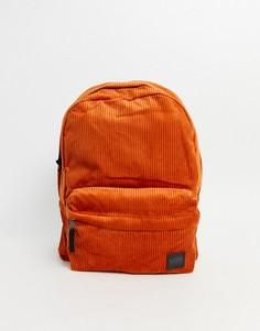 Вельветовый рюкзак рыжего цвета Vans-Красный