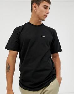 Черная футболка с логотипом Vans-Черный