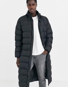Дутая куртка с убирающимся капюшоном Threabare-Черный Threadbare