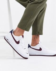 Белые кроссовки с логотипом Nike Air Force 1 07 CJ8731-100-Белый