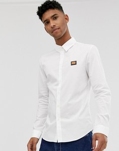 Рубашка с длинными рукавами и металлическим логотипом Love Moschino-Белый