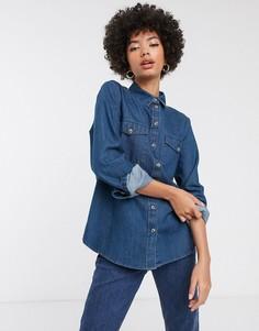 Джинсовая рубашка Selected Femme-Синий