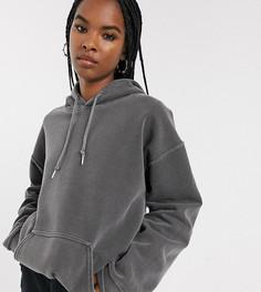 Худи темно-серого цвета Reclaimed Vintage inspired-Серый
