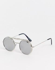 Круглые очки Spitfire-Серебряный