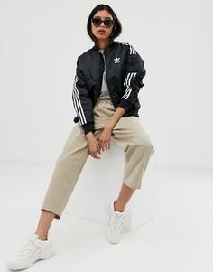 Черная спортивная куртка с тремя полосками adidas Originals - Locked Up-Черный