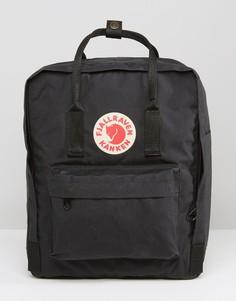 Черный рюкзак объемом 16 литров Fjallraven Kanken