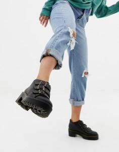 Черные кожаные ботильоны на каблуке с тремя ремешками Dr Martens Coppola-Черный