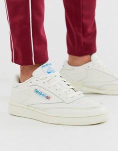 Белые кожаные кроссовки Reebok Club C 85 vintage-Белый