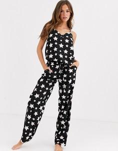 Пижама со звездным принтом Loungeable-Синий