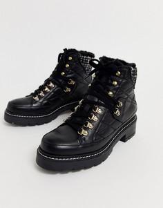 Черные кожаные походные ботинки на шнуровке Kurt Geiger-Черный