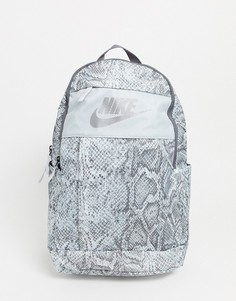 Рюкзак со змеиным принтом Nike-Серый