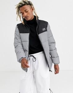 Дутая куртка со светоотражающей вставкой Sixth June-Серебряный