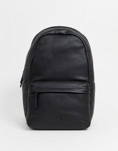 Черный кожаный рюкзак Timberland
