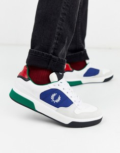 Белые кроссовки с замшевой отделкой Fred Perry B330-Белый