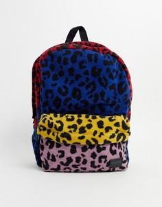 Рюкзак в стиле пэтчворк с леопардовым принтом Vans-Мульти