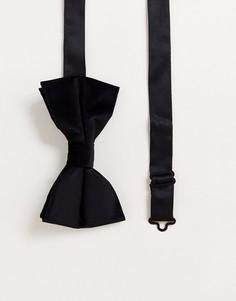 Черный бархатный галстук-бабочка ASOS DESIGN