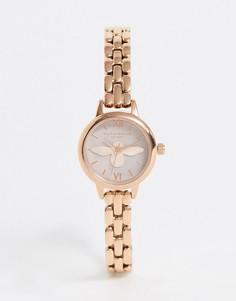 Наручные часы цвета розового золота с отделкой в виде пчелы Olivia Burton-Золотой