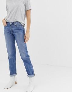 Джинсы бойфренда с классической талией Calvin Klein-Синий