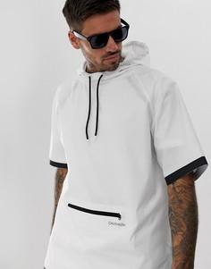 Белая ветровка с капюшоном и герметичными швами Calvin Klein Neo Plus-Белый