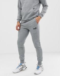 Серые джоггеры скинни Puma Essentials-Серый