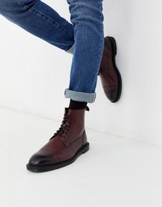 Вишнево-красные ботинки Dr Martens-Красный