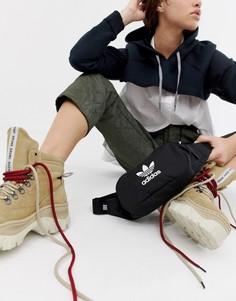 Черная сумка-кошелек на пояс с логотипом adidas Originals-Черный
