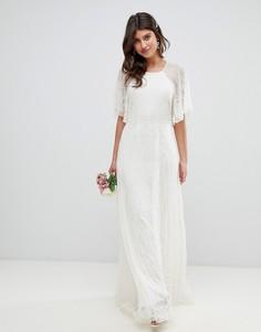 Свадебное платье с отделкой ASOS EDITION-Белый