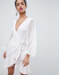 Платье с запахом Keepsake-Белый