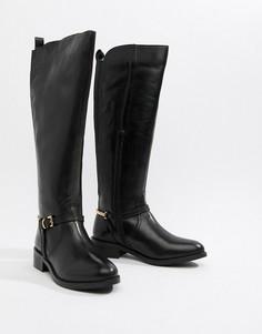 Кожаные сапоги до колен Dune Upton-Черный