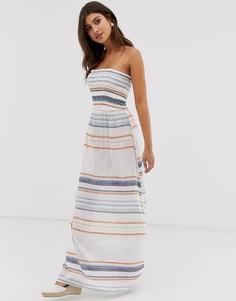 Пляжное платье макси в полоску Influence-Белый