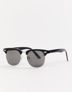 Классические солнцезащитные очки в стиле ретро ASOS DESIGN-Черный