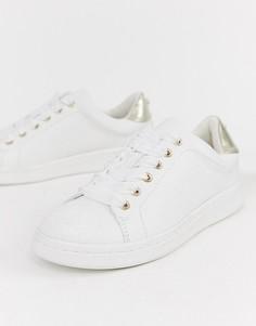 Белые кроссовки на шнуровке Miss KG-Белый