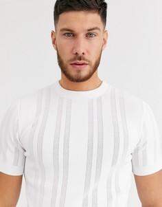 Белая трикотажная футболка River Island-Белый