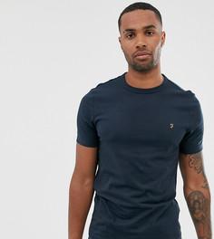 Темно-синяя зауженная футболка с логотипом Farah Dennis-Темно-синий