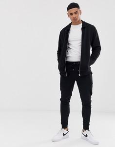 Спортивная куртка Харрингтон ASOS DESIGN-Черный