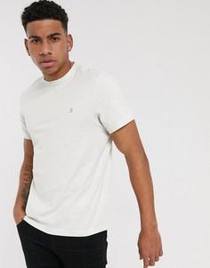 Белая меланжевая футболка с логотипом Farah-Белый