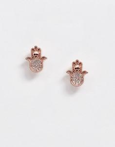 Серьги-гвоздики цвета розового золота Ted Baker Hermia-Золотой