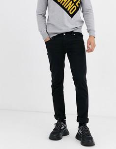 Черные джинсы скинни Love Moschino-Черный