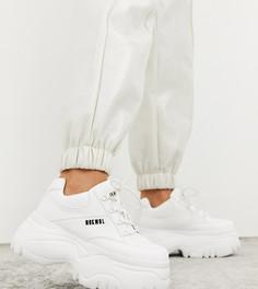 Белые кроссовки на платформе Nokwol Exclusive Scripter-Белый
