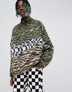 Зеленая куртка с короткой молнией Nike Vaporwave AO0862-222-Зеленый