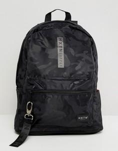Черный рюкзак с камуфляжным принтом HXTN Supply Prime