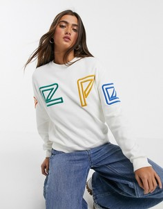 Свитшот с логотипом Pepe Jeans-Белый