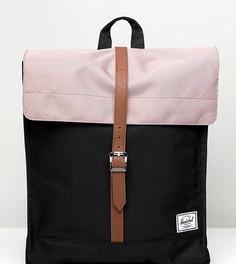 Эксклюзивный городской рюкзак черного и розового цвета Herschel Supply Co-Мульти