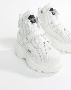 Белые классические высокие кроссовки на платформе Buffalo-Белый