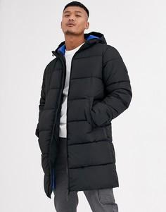 Длинная дутая куртка Jack & Jones Originals-Черный