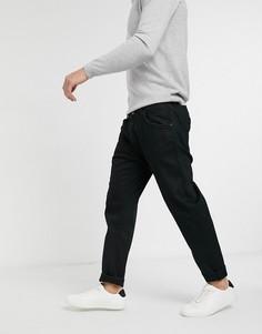 Черные зауженные джинсы до щиколотки Selected Homme-Черный